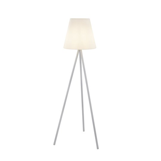 Outdoor LED Tripod Floor Lamp In White