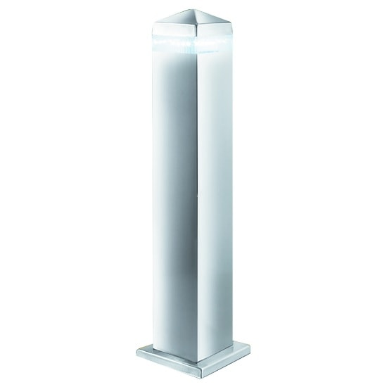 Satin Silver LED Outdoor Post Light With Clear Diffuser