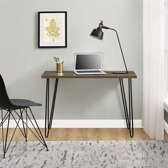 Owen Wooden Retro Laptop Desk In Walnut Furniture In Fashion