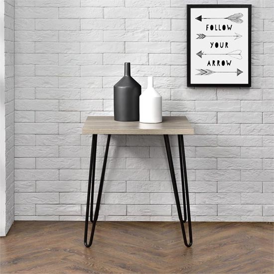 Owen Wooden Retro End Table In Rustic Oak_1