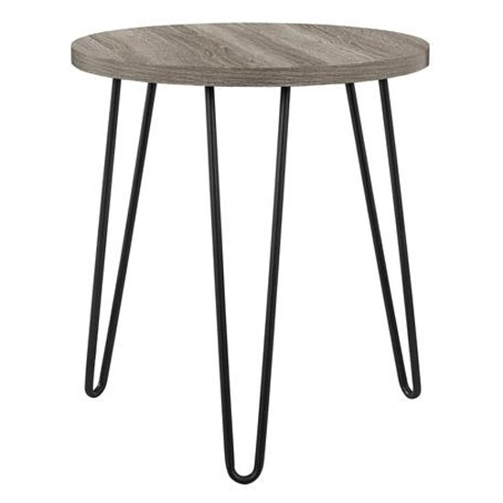 Owen Wooden Round End Table In Distressed Grey Oak_3