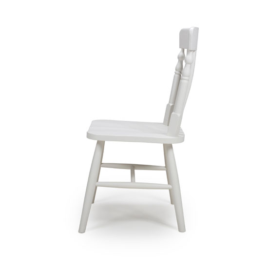 Oxford Wooden White Slat Back Dining Chairs In A Pair_2