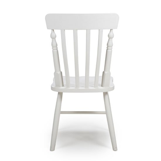 Oxford Wooden White Slat Back Dining Chairs In A Pair_3