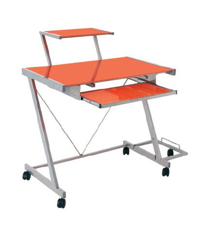 pad computer trolley orange - 7 Benefits Of A Computer Workstation Desk On Wheels
