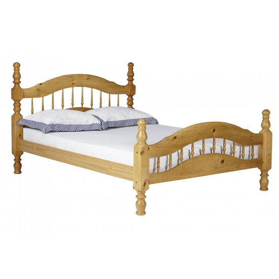 Padova Pine Wooden 4 Foot Bed In Oak