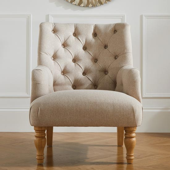 Padstow Fabric Lounge Chaise Armchair In Wheat_2