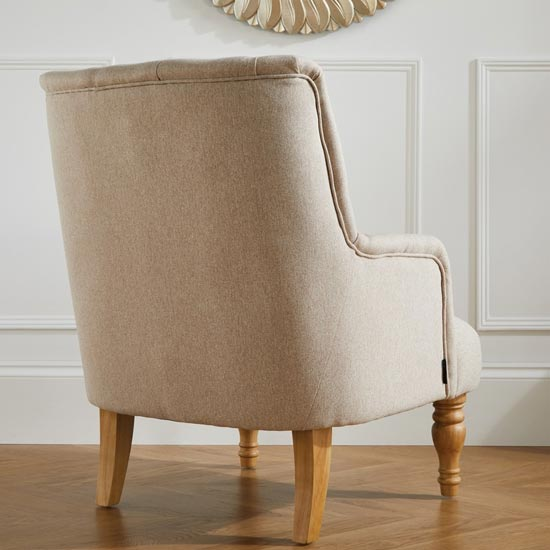 Padstow Fabric Lounge Chaise Armchair In Wheat_3