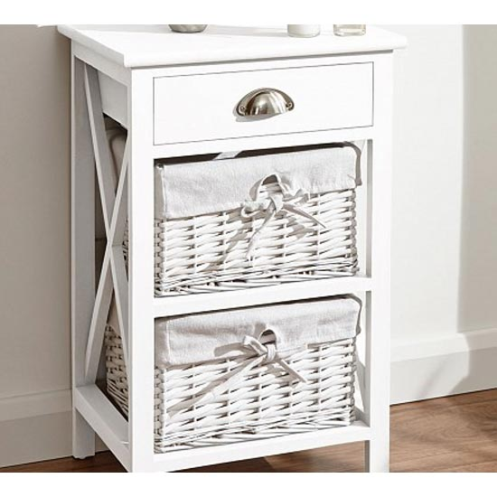 Padstow Wooden Chest Of Drawers In White With 3 Drawers_2