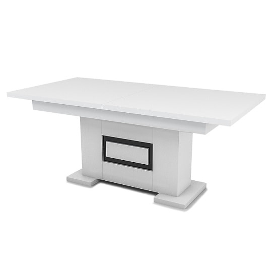 Padua Extending Large Dining Table In High Gloss White And Black_2