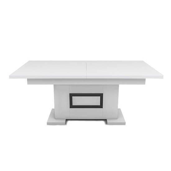 Padua Extending Large Dining Table In High Gloss White And Black_3
