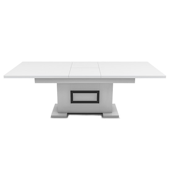 Padua Extending Large Dining Table In High Gloss White And Black_4