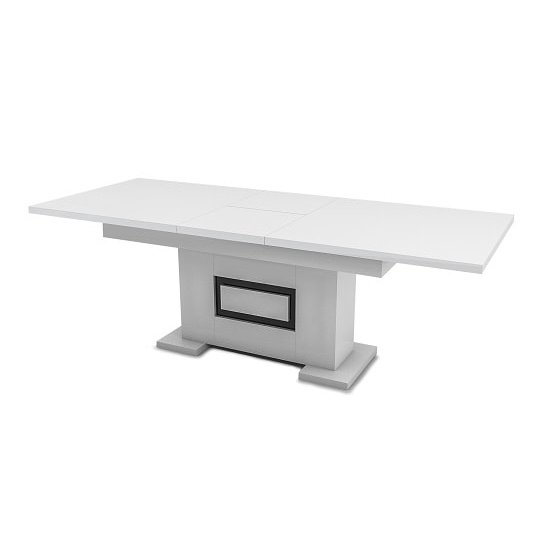 Padua Extending Large Dining Table In High Gloss White And Black