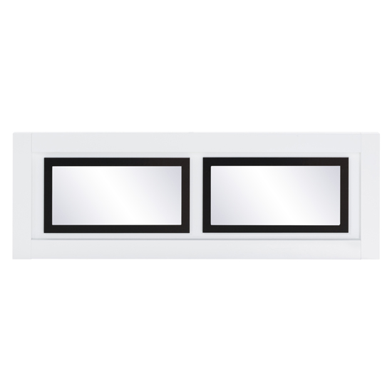Padua Wall Bedroom Mirror In High Gloss White And Black_2