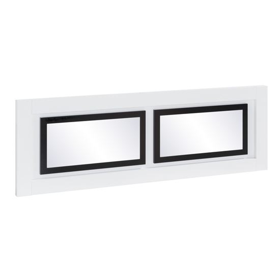 Padua Wall Bedroom Mirror In High Gloss White And Black_3