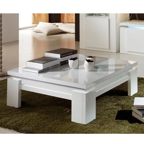 Padua Wooden Coffee Table In White High Gloss