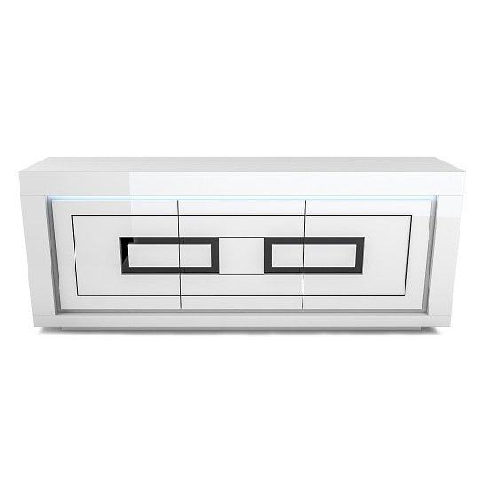 Padua Wooden LED Sideboard In High Gloss White And Black_2