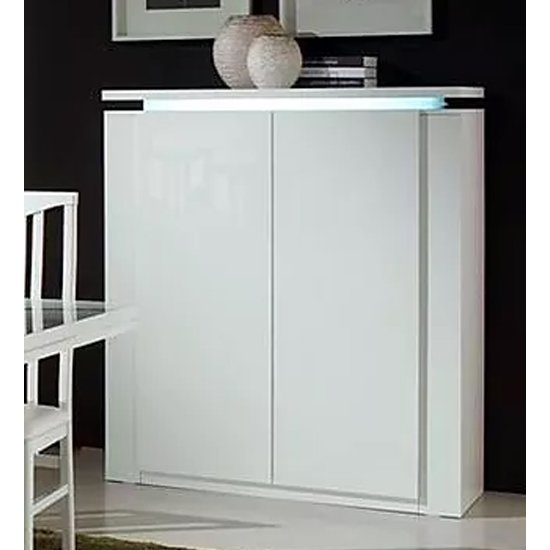 Padua Wooden Storage Cabinet In White High Gloss
