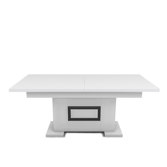 Padua Extendable Large Dining Table In Glossy White And Black_3