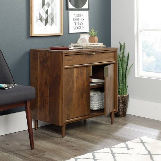 Palais Wooden Sideboard In Walnut With 2 Doors And 1 Drawer_3