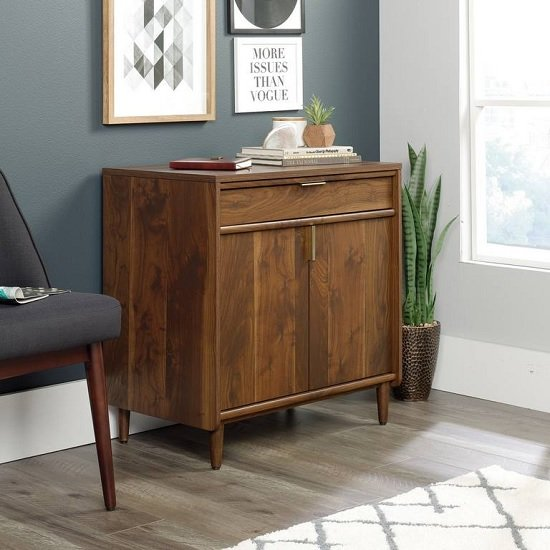 Palais Wooden Sideboard In Walnut With 2 Doors And 1 Drawer