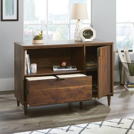 Palais Wooden Sideboard In Walnut With 1 Door And 1 Drawer_2