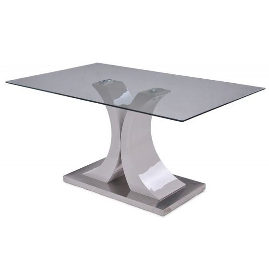 Palazzo Modern Glass Dining Table Rectangular In Clear