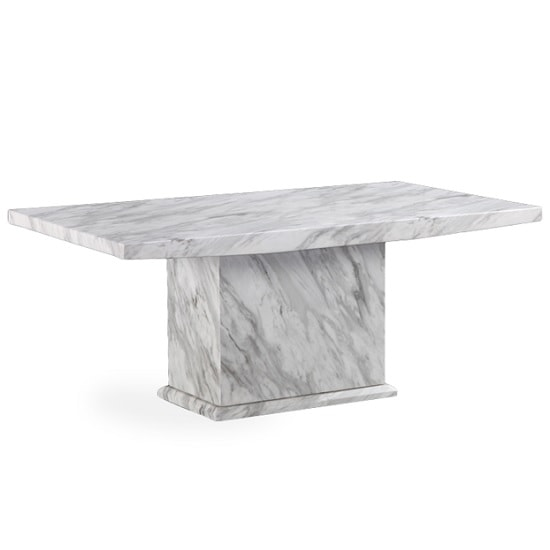 Marble Effect Coffee Table Uk: Palermo Contemporary Marble Effect Wooden Coffee Table In