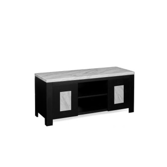 Palermo Wooden Marble Effect TV Stand In Grey