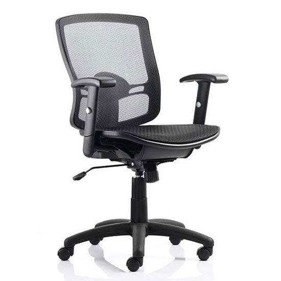 Palma Task Back Black Office Chair In Black With Arms_1