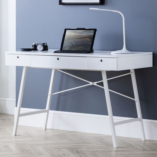 Palmer Wooden Laptop Desk In White