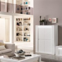 Pamela Bar Unit In White High Gloss With Lighting_1