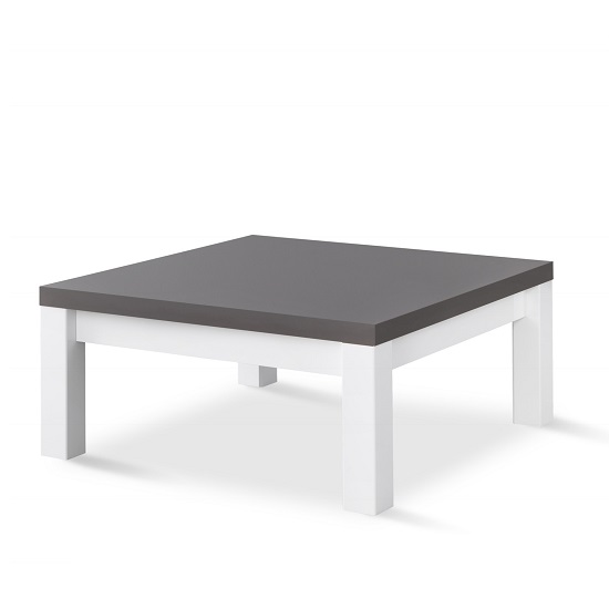 Pamela Coffee Table Square In White And Grey High Gloss_2