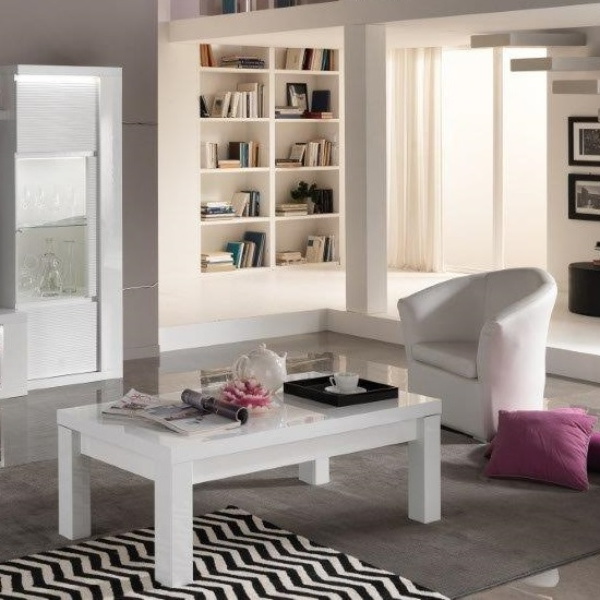 Pamela Coffee Table Rectangular In White High Gloss