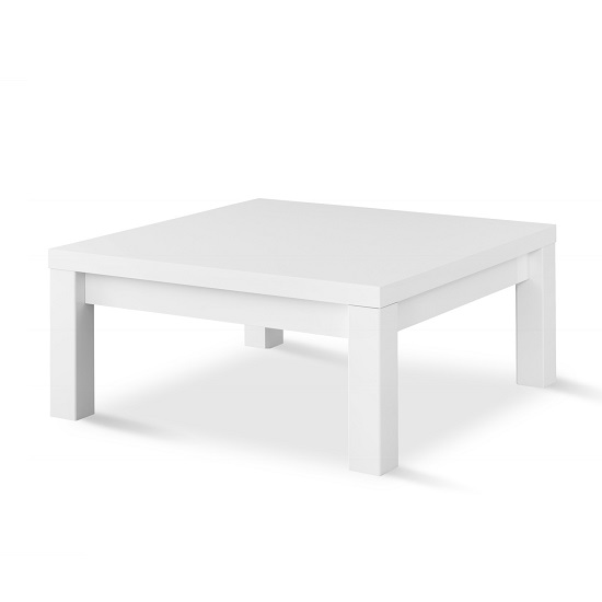 Elisa Coffee Table Square In High Gloss White With Storage: Pamela Coffee Table Square In White High Gloss 30848