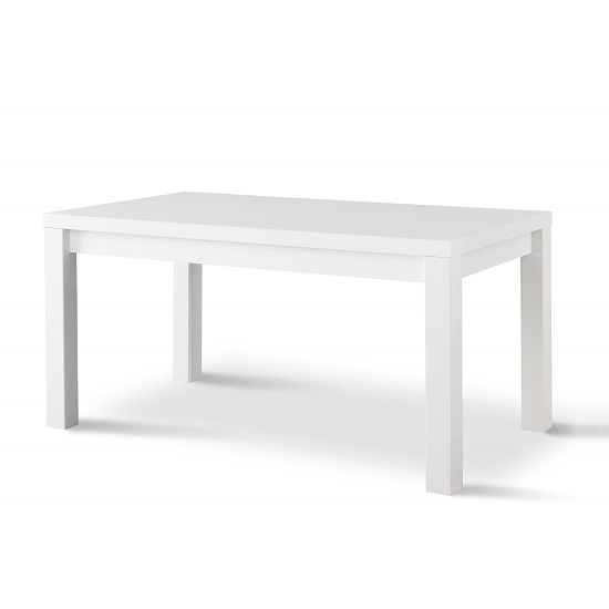 Pamela Dining Table Rectangular In White High Gloss