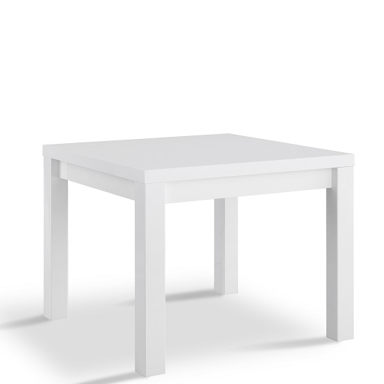 Pamela Dining Table Square In White High Gloss