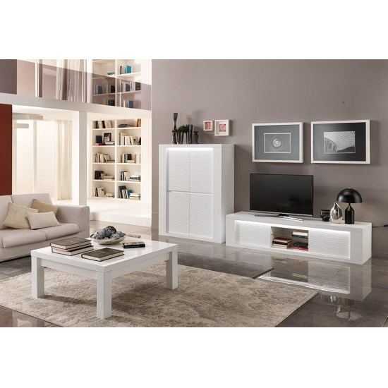 Pamela Bar Unit In White High Gloss With Lighting_5