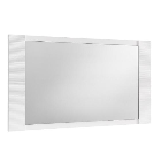 Pamela Wall Mirror Rectangular In White High Gloss
