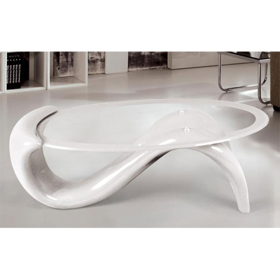 Panama Glass Top Coffee Table With White Base Ebay