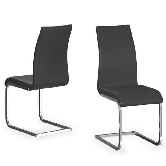 Paolo Black Faux Leather Dining Chair In A Pair_1