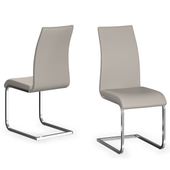 Paolo Cream Faux Leather Dining Chair In A Pair_1