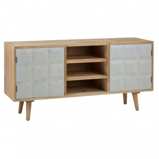 Papeka Wooden 2 Doors 2 Shelves Sideboard In Whitewash_2