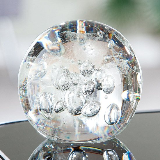 Paperweight Glass Ball Design Sculpture In Clear