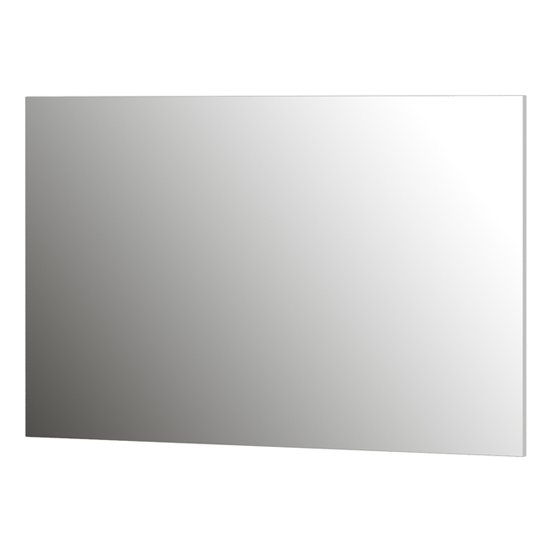 Parenzo Wall Mirror With White High Gloss Frame