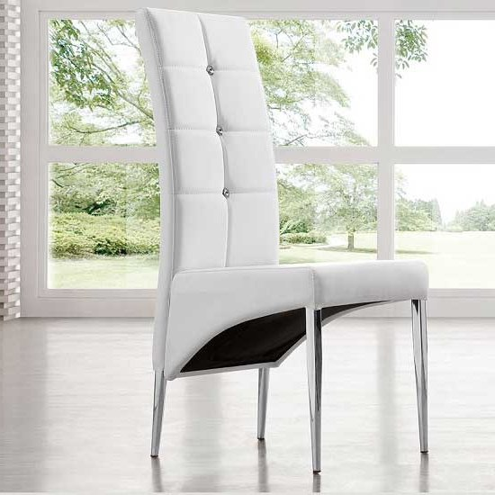 Parini Extending White Gloss Dining Set With 6 White Chairs_5