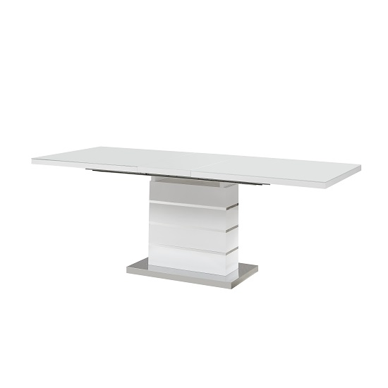 Parini Glass Extendable Dining Table Large In White High Gloss_2