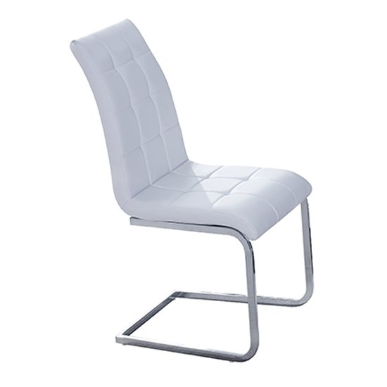 Paris Faux Leather Dining Chair In White