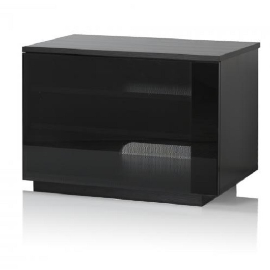 Parisian Modern TV Stand In Black With Glass Door