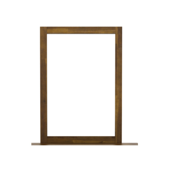 Parkfield Dressing Mirror In Brush Effect Wooden Frame