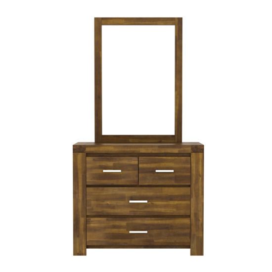 Parkfield Wooden Dressing Table And Mirror In Brush Effect